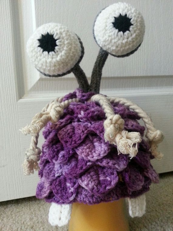 Crochet Boo from Monsters Inc. hat
