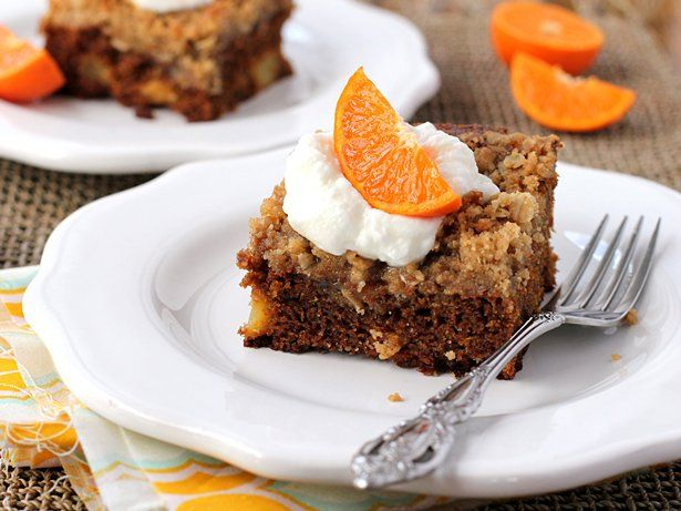 Gingerbread-Apple Streusel Coffee Cake   Recipe