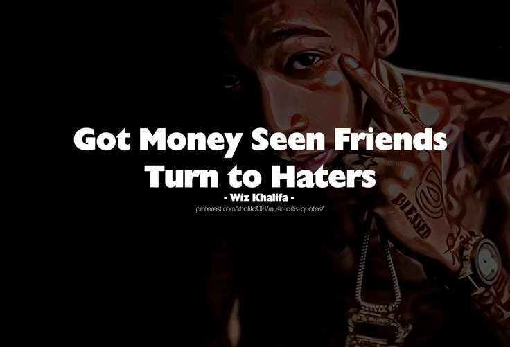 Haters Quotes Wiz Khalifa Turn haters - wiz khalifa