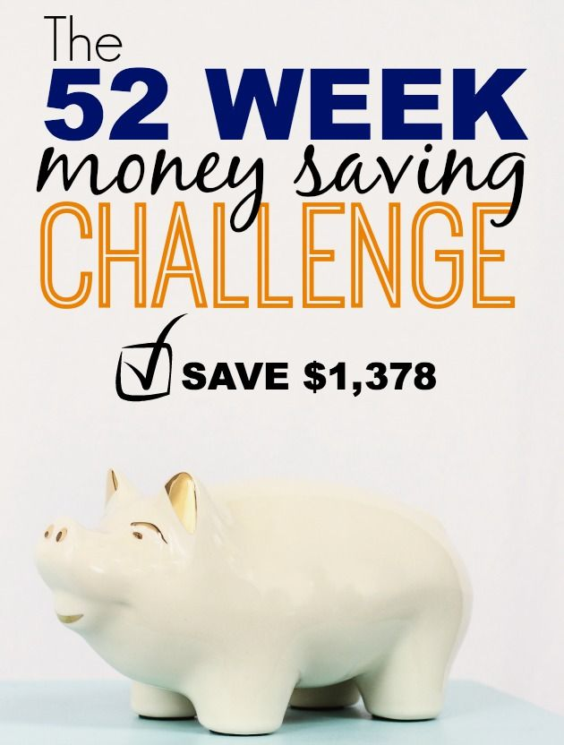 The 52 Week Money Saving Challenge - The easiest way to save $1,378! Plus, a chance to double your savings if you complete all 52 weeks.