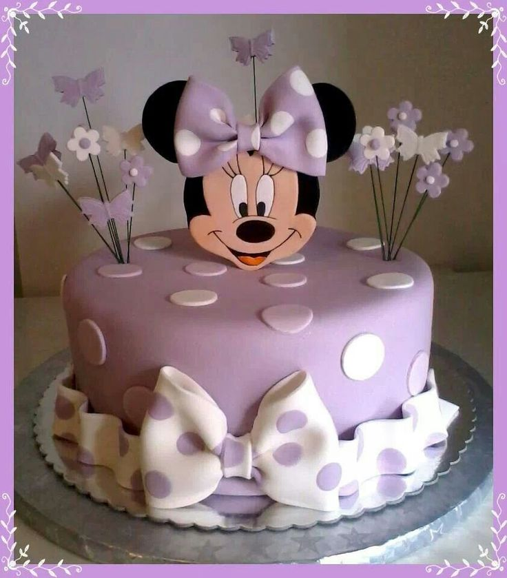 Cake Designs Minnie Mouse : Purple Minnie mouse cake Cake ideas Pinterest