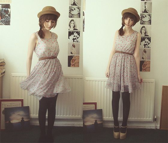 Floral Dress, Bowler Hat