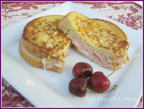 Monte Cristo Sandwich with Fontina Cheese--The Peaceful Mom