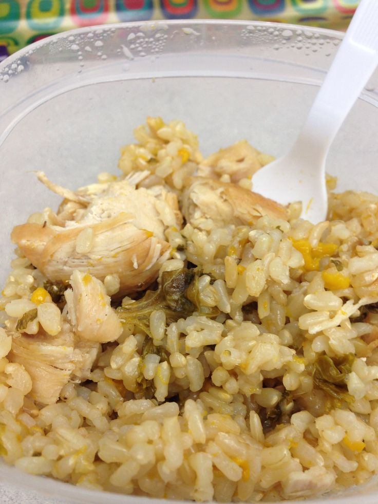 One pot steamed chicken and mango kale brown rice. Yes made in the ...