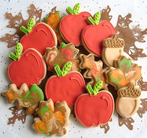 Cute fall cookies