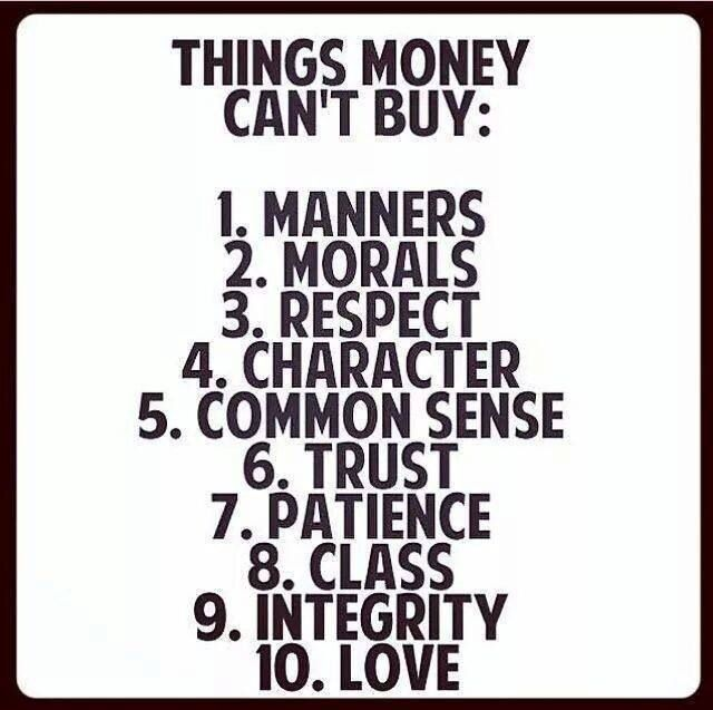 essay about money is not everything in life Money can't buy happiness money is one of the because people think that since money can buy everything else then it their life all about money.