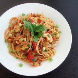 "... Double"" Mushroom Pasta with fresh cremini and dried porcini mushrooms"