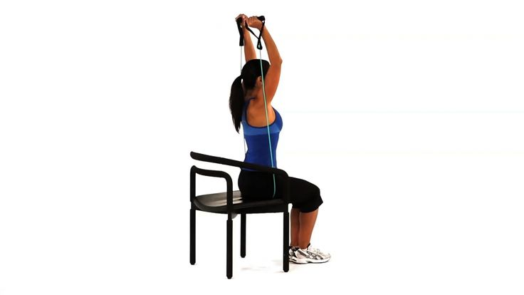 Seated theraband tricep extensionSeated Tricep Extension