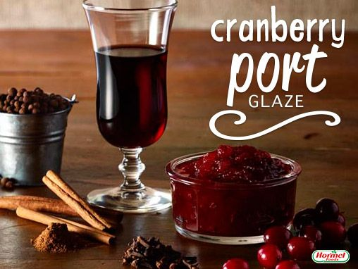 In a saucepan, combine cranberry jelly, port wine, cinnamon, allspice ...