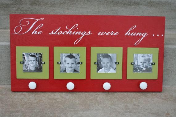 No Mantel?? This is a great idea for hanging stockings