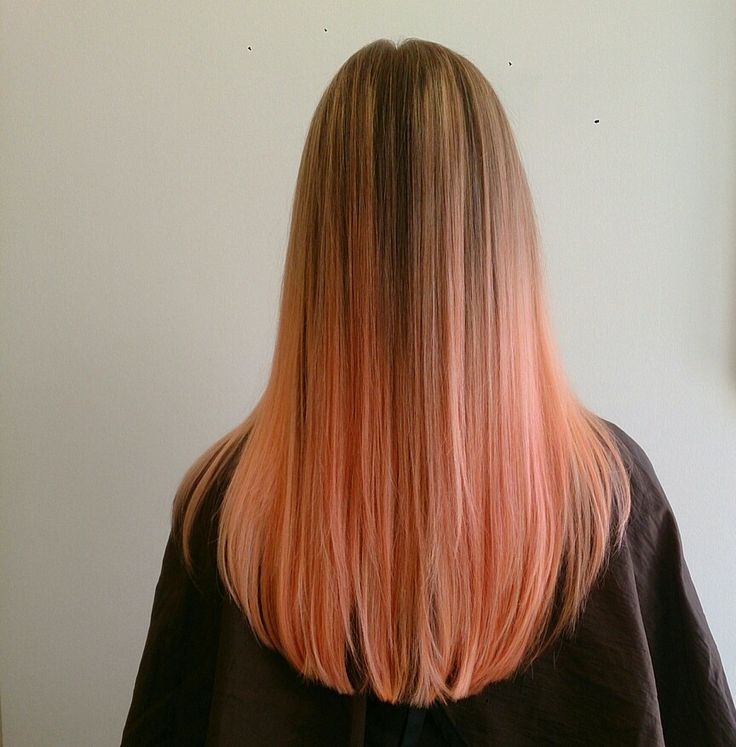 ombre peach hair pinterest