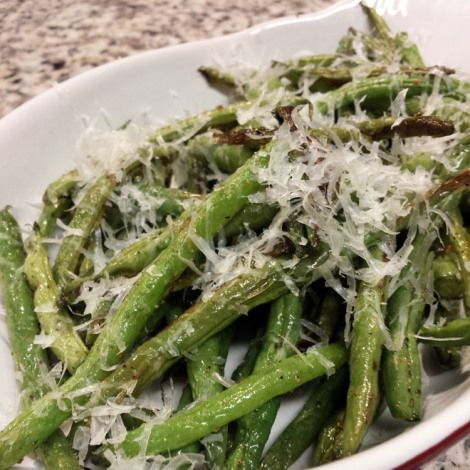 Roasted Parmesan Green Beans | Yummy | Pinterest