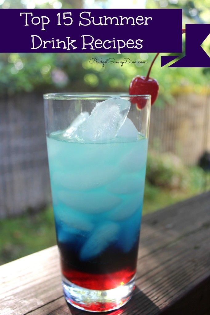 Top 15 Summer Drink Recipes 4th of July fire cracker drink!!