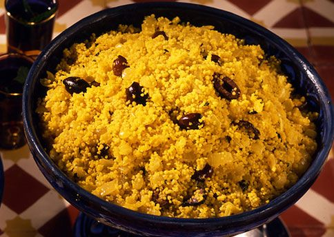 Golden Couscous with Olives, Lemon and Fresh Herbs: Recipe: bonappetit ...