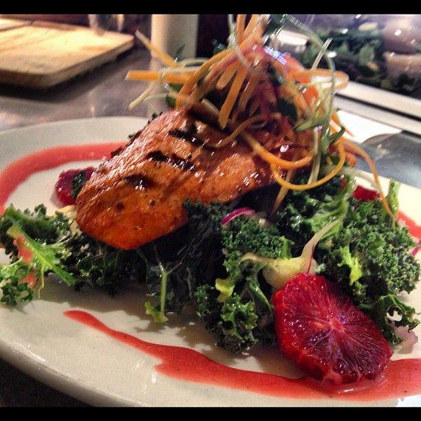 tgwc hot smoked loch Duart salmon, kale & fennel salad, blood orange ...