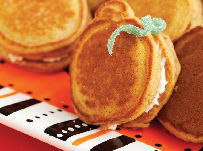 Pumpkin Pancakes Sandwiches With Chocolate Filling Recipes ...