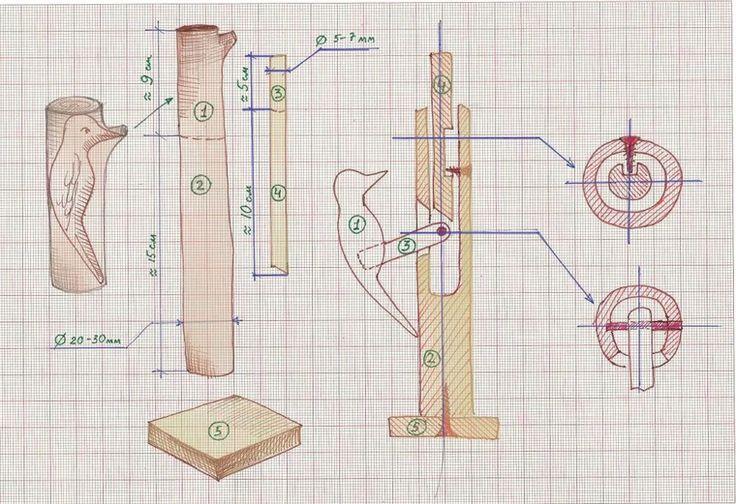 Механические игрушки своими руками подвижные 96