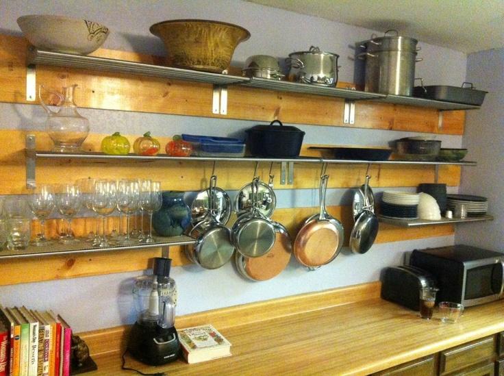 Shelves Instead Of Cabinets Kitchen Ideas Pinterest