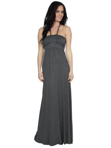21.99 nice Simplicity Casual Maxi Dress in Plain Solid Color, Empire