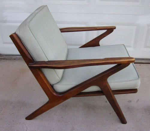 1960 39 s teak 39 z 39 chair danish mid century modern furniture for Z chair mid century