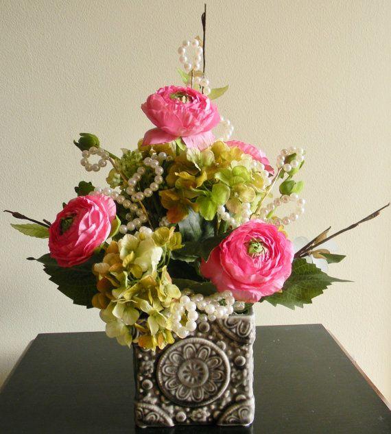 Spring flower arrangement floral centerpiece decor