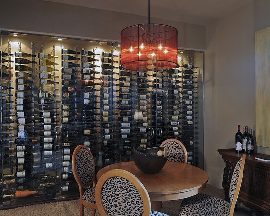 All glass wine cellar wall mdr dining room pinterest for Buzzfeed best dining rooms