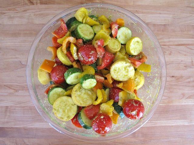 Lemon Pesto Vegetable Skewers | Recipe