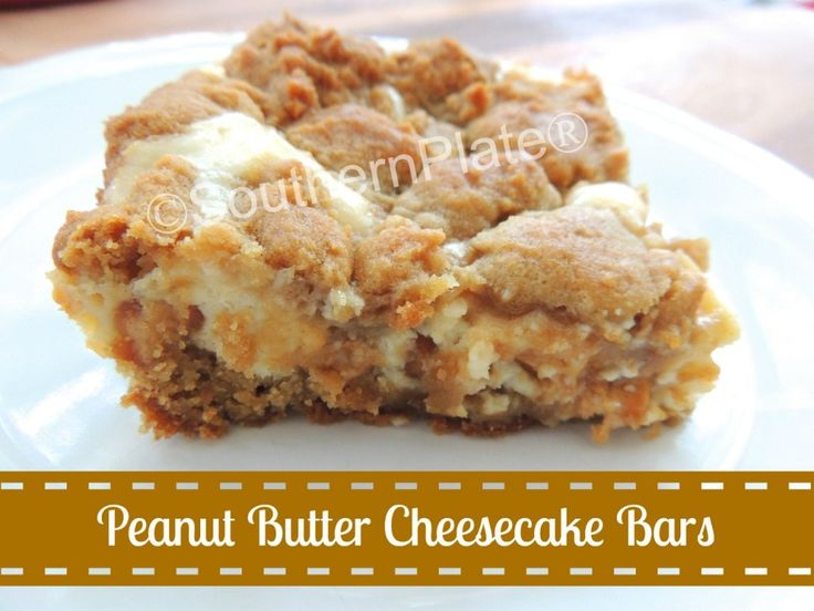 Peanut Butter Cheesecake Cookie Bars - I could make my own GF peanut ...