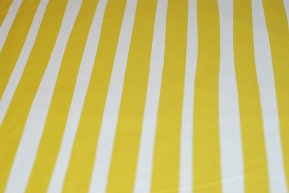 Ikea Einrichtungsplaner Jugendzimmer ~ White and Yellow Stripe Fabric by daleybytheyard on Etsy, $10 70