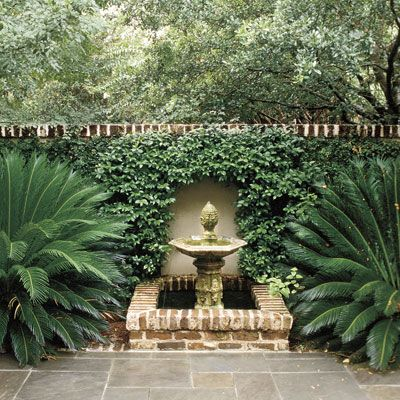 pretty courtyard fountain yard ideas pinterest