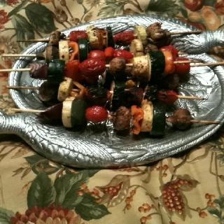 Grilled Veggie Kabobs With Spicy Garlic Marinade