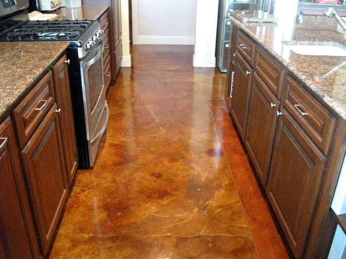 Concrete stain ideas around the house pinterest for How to care for stained concrete floors