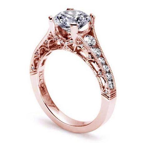 tacori rose gold engagement rings on hand Rose Gold Engagement Rings