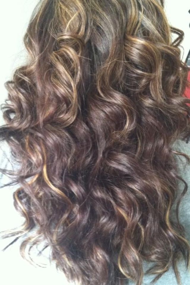 Partial Highlights : Caramel Partial Highlights Dark Brown Hairs