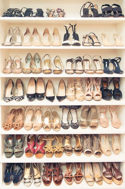 Monique Lhuillier's Shoe Closet via @The Coveteur
