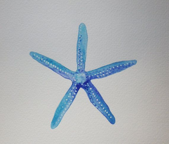 Starfish Watercolor Painting