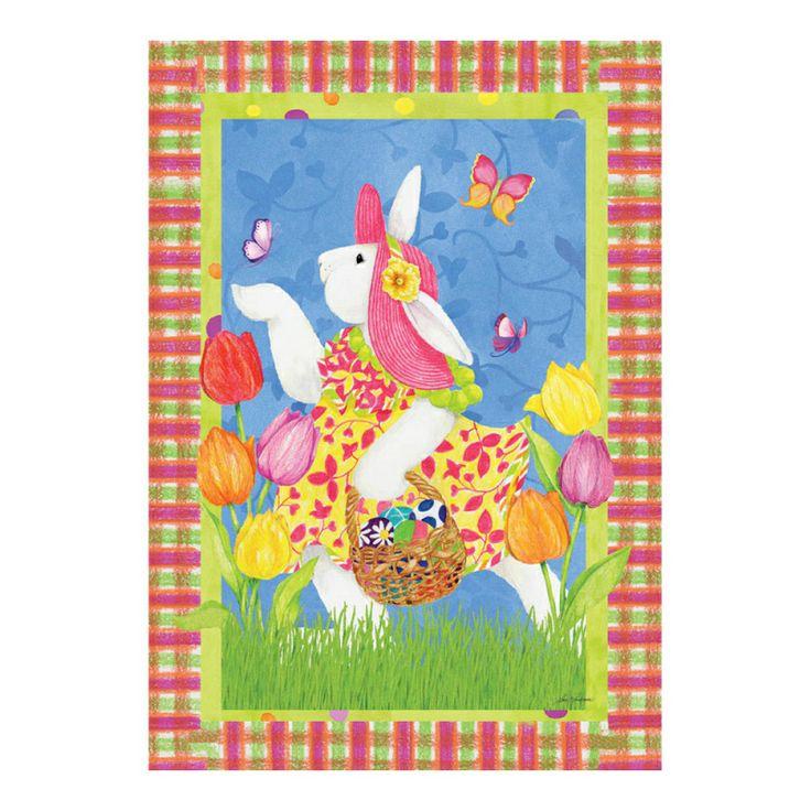 Easter Bunny Evergreetings Garden Flag