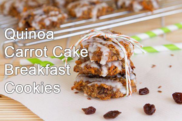 Quinoa Carrot Cake Breakfast Cookies | Cookies!Cookies!Cookies! | Pin ...