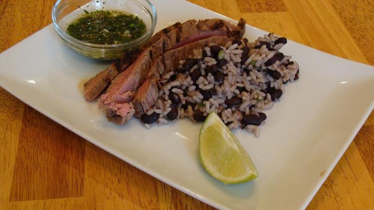 Cuban-Style Flank Steak w/ Chimichuri sauce