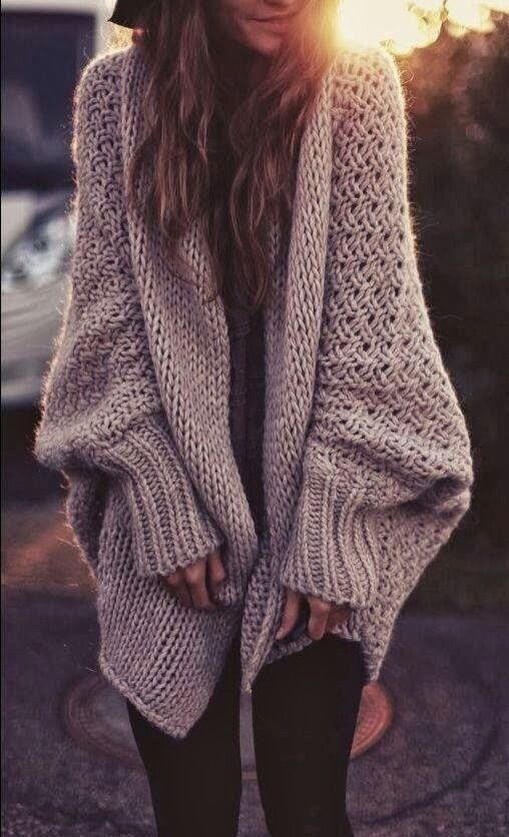 Oversized knit cardigan. My Style Pinterest