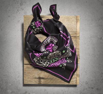 Women's Tattoo Skull Bandana