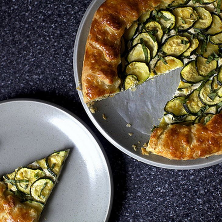 Zucchini and Ricotta Galette Recipe | yum | Pinterest