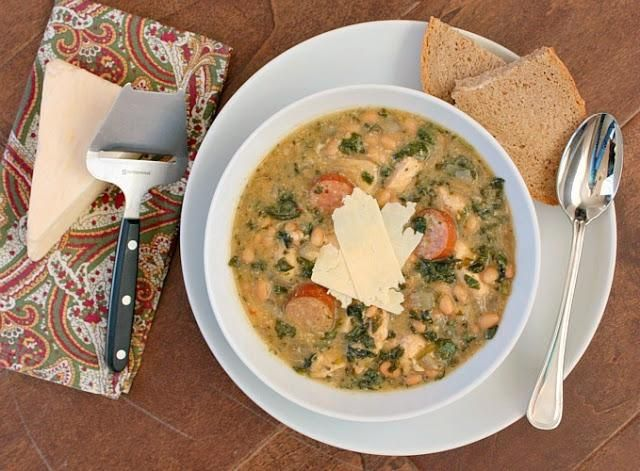 Chicken Recipes : Slow Cooker Chicken Stew with Sausage, White Beans ...
