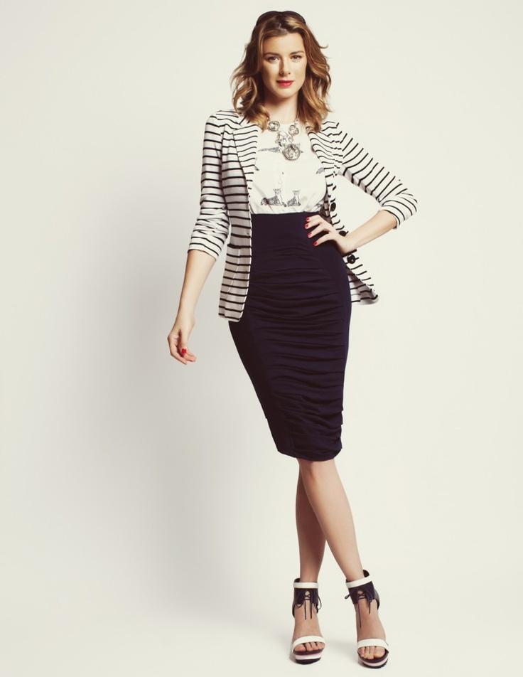 FOAM Magazine outtakes: Karen Kane striped blazer