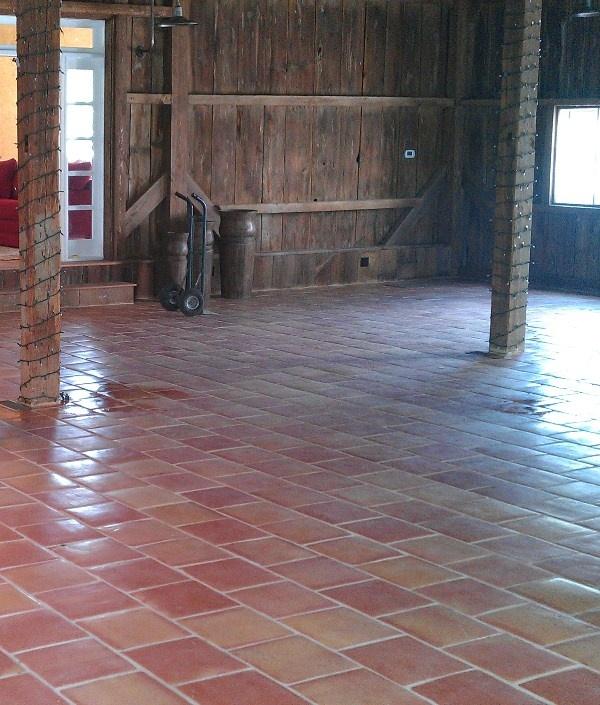 Spanish Terracotta Saltillo Floor Tile Traditional