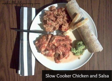 Slow Cooker Chicken and Salsa Recipe   Recipes   Pinterest