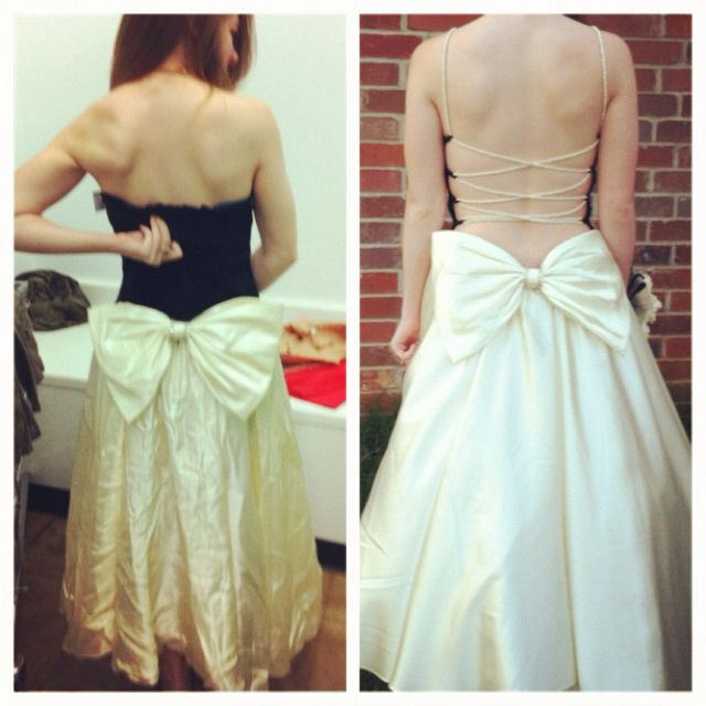 before and after diy prom dress diy pinterest