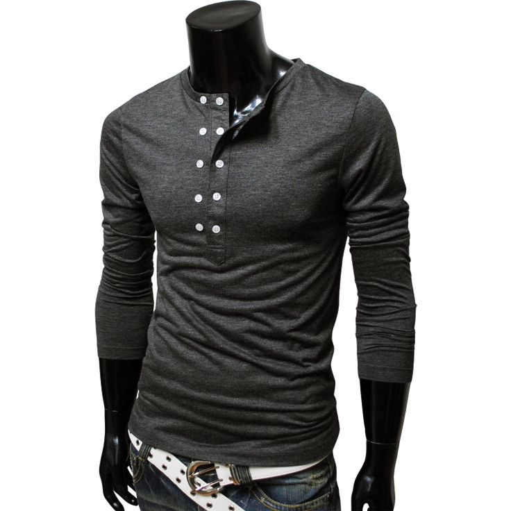 Dark grey pull over double button