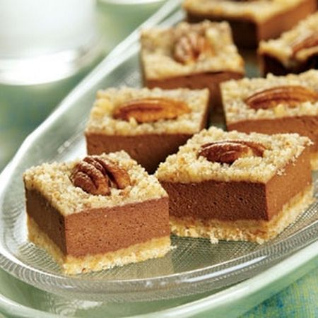 CHOCOLATE ORANGE CHEESECAKE BARS | bars | Pinterest