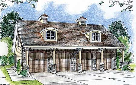 4 car garage with apartment space the farm pinterest for Four car garage with apartment